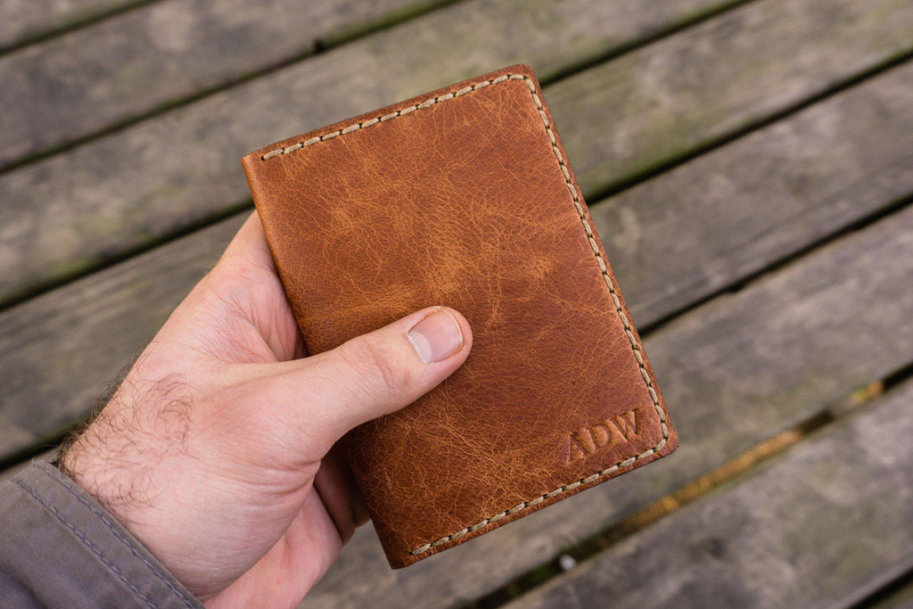 9005a092f97 No.06 Hand-stitched Leather Passport Holder-Rustic Brown - GalenLeather - 7