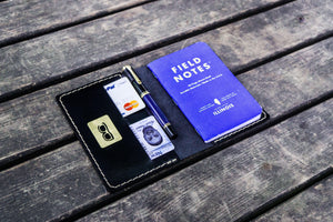 No.33 Personalized Leather Field Notes Cover - Black-Galen Leather