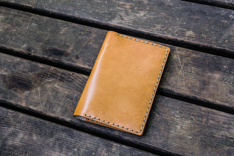 No.33 Personalized Leather Field Notes Cover - Natural-Galen Leather