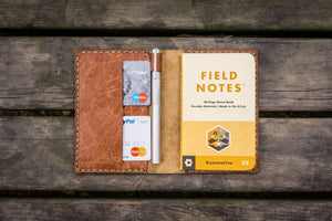 No.33 Personalized Leather Field Notes Cover - Rustic Brown - GalenLeather - 1
