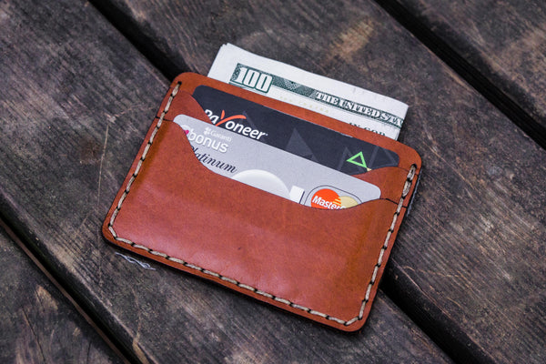 No.40 Handmade Leather Slim Card Wallet - Brown-Galen Leather