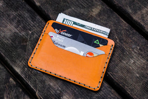 No.40 Handmade Leather Slim Card Wallet - Orange-Galen Leather