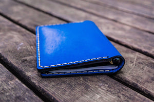 No.44 Personalized Leather Field Notes Cover - Blue-Galen Leather