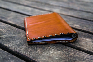 No.44 Personalized Leather Field Notes Cover - Chocolate Brown-Galen Leather