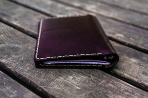 No.44 Personalized Leather Field Notes Cover - Dark Brown-Galen Leather