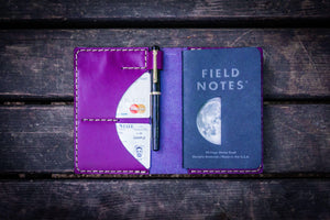 No.44 Personalized Leather Field Notes Cover - Purple-Galen Leather