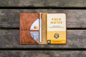 No.44 Personalized Leather Field Notes Cover - Rustic Brown - GalenLeather - 2