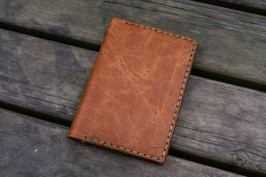 No.44 Personalized Leather Field Notes Cover - Rustic Brown - GalenLeather - 6
