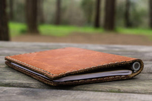 No.44 Personalized Leather Field Notes Cover - Rustic Brown - GalenLeather - 7