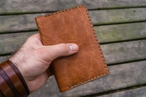 No.44 Personalized Leather Field Notes Cover - Rustic Brown - GalenLeather - 8
