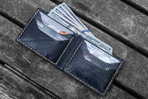 No.48 Personalized Handmade Leather Wallet - Black-Galen Leather