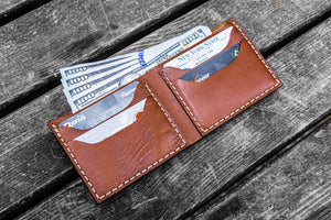 No.48 Personalized Handmade Leather Wallet - Brown-Galen Leather