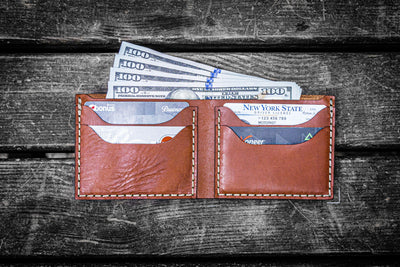4523e77a9faa Handmade Leather Bifold Wallets - Mens Everyday Wallet | Galen Leather