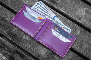 No.48 Personalized Handmade Leather Wallet - Purple-Galen Leather