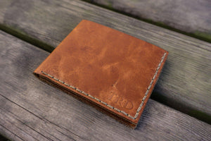 No.48 Personalized Handmade Leather Wallet - Rustic Brown-Galen Leather