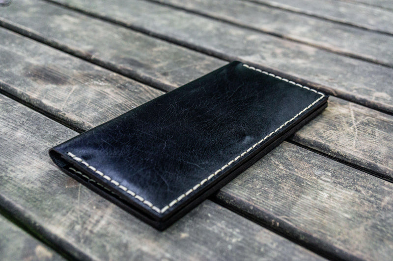 No.49 Handmade Leather Women Wallet - Black-Galen Leather