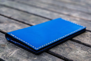 No.49 Handmade Leather Women Wallet - Blue-Galen Leather