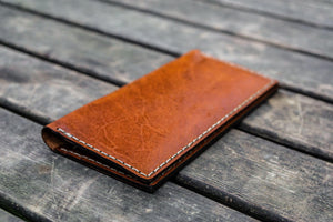 No.49 Handmade Leather Women Wallet - Brown-Galen Leather