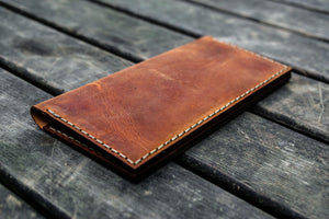 No.49 Handmade Leather Women Wallet - Crazy Horse Tan-Galen Leather