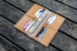 No.49 Handmade Leather Women Wallet - Natural-Galen Leather