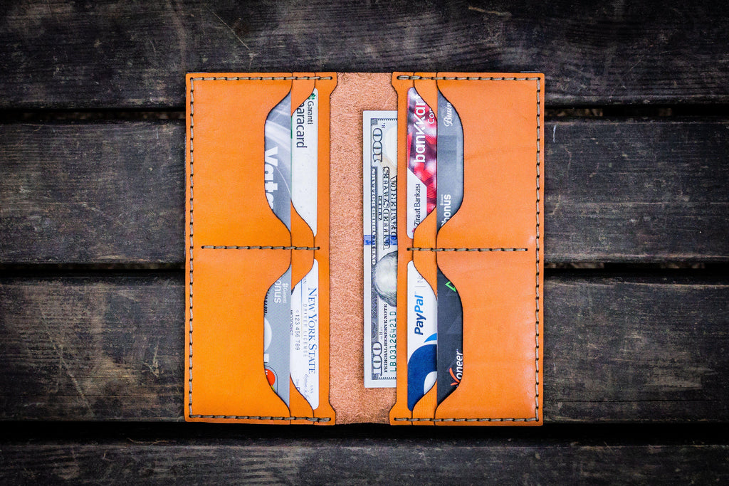 No.49 Handmade Leather Women Wallet - Orange-Galen Leather