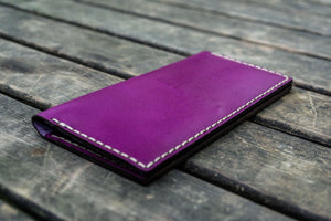 No.49 Handmade Leather Women Wallet - Purple-Galen Leather