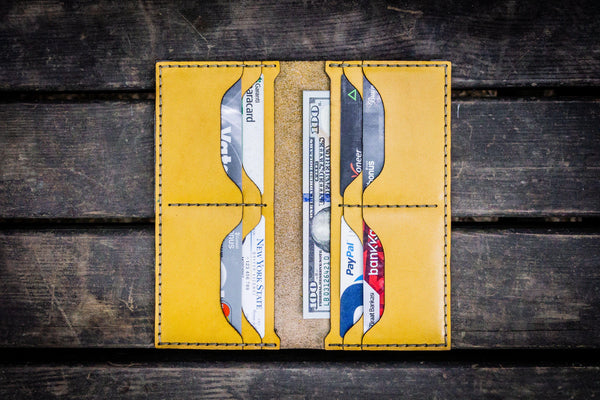 No.49 Handmade Leather Women Wallet - Yellow-Galen Leather