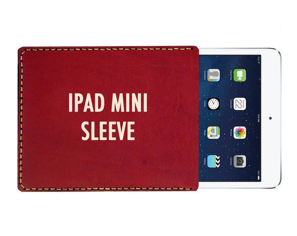 Personalized IPad Mini , Mini 2, Mini 3, Mini 4 Leather Sleeve - GalenLeather - 1