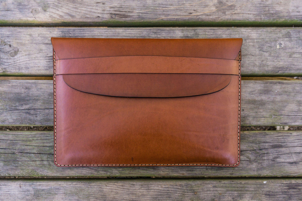 watch eb453 9b8d8 Personalized Leather MacBook Sleeves - Brown - Galen Leather