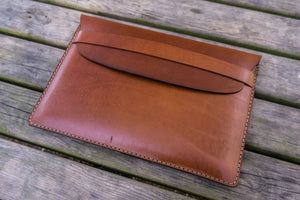Personalized Leather MacBook Sleeves - Brown-Galen Leather