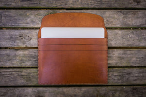 Personalized Leather MacBook Sleeves - Brown