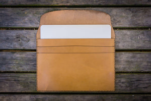 Personalized Leather MacBook Sleeves - Natural-Galen Leather
