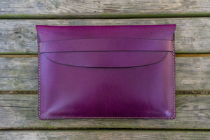 Personalized Leather MacBook Sleeves - Purple-Galen Leather