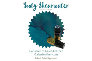 Robert Oster - Sooty Shearwater Fountain Pen Ink - A Special Color for Zeynep-Galen Leather