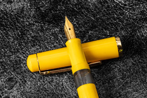 Scrikss 419 Fountain Pen Yellow-Galen Leather