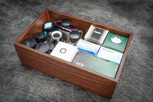 Stack & Store Wood Ink Storage Box-Galen Leather