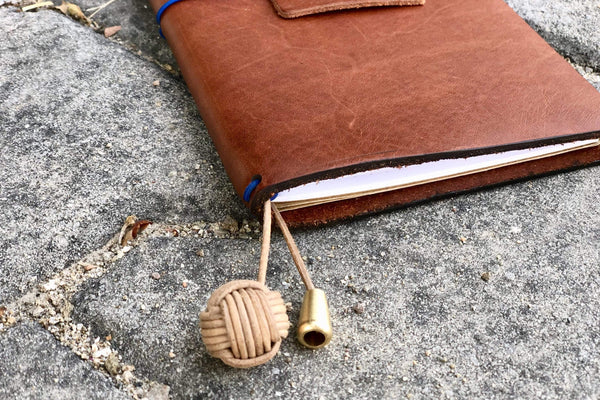 The Knot- Leather Monkey's Fist Bookmark-Galen Leather