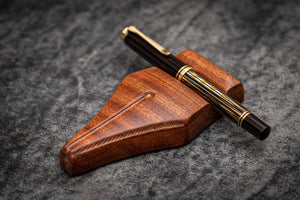 The Nib Rest Wooden Pen Stand - Mahogany-Galen Leather