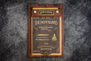 The Note Board - Wooden Rhodia Notepad Holder - Mahogany - Galen Leather