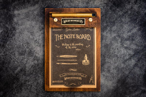 The Note Board - Wooden Rhodia Notepad Holder - Walnut-Galen Leather