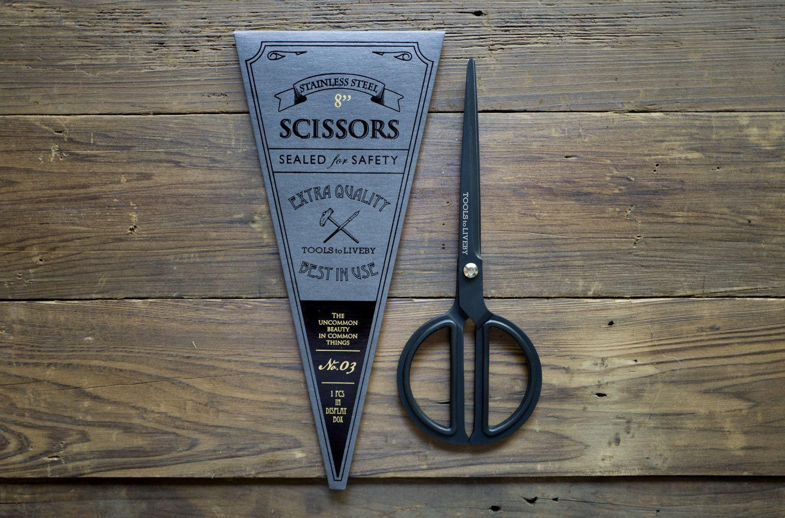 "Tools to Liveby Black Scissors 8""-Galen Leather"