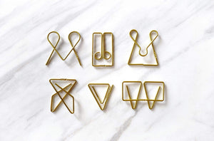 Unique paper clip shapes
