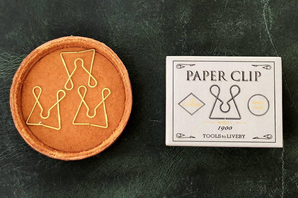 Tools to Liveby Brass Paper Clips (Mcgill) - Galen Leather