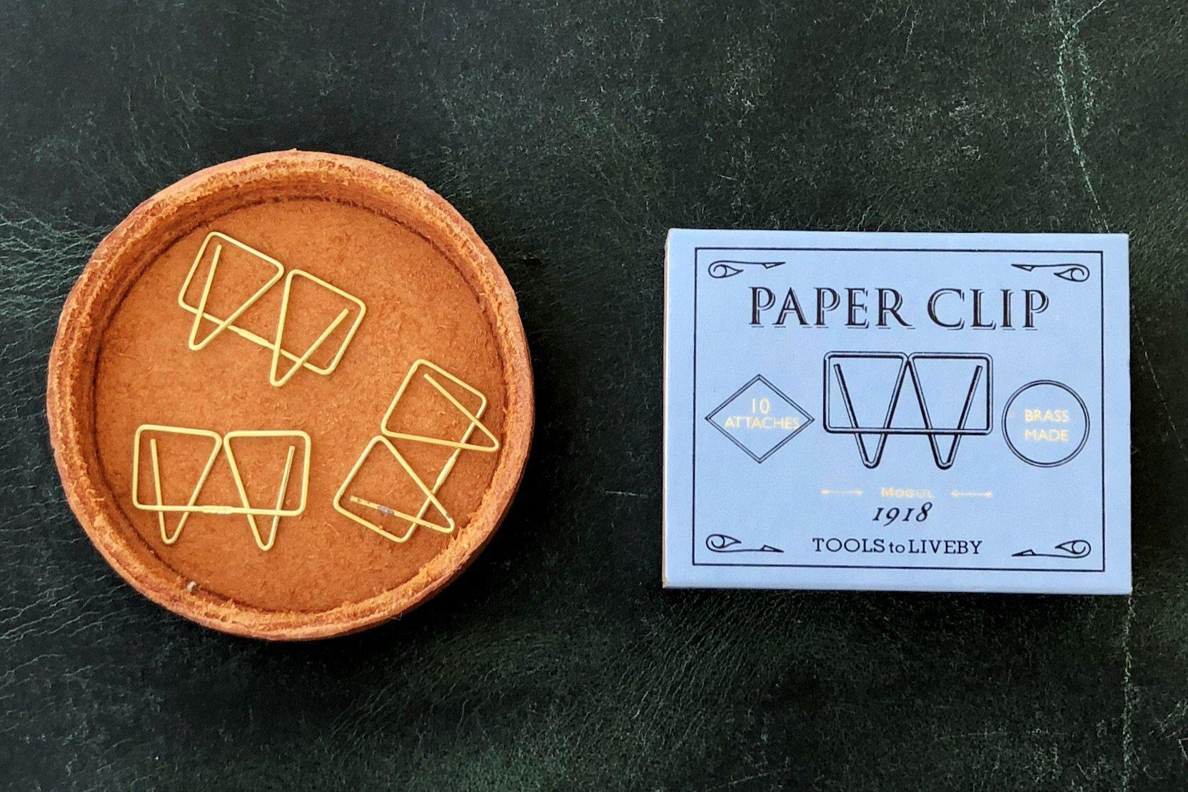 Tools to Liveby Brass Paper Clips (Mogul)-Galen Leather