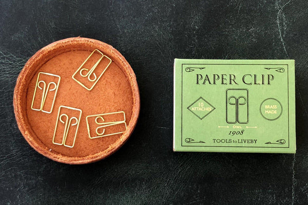 Tools to Liveby Brass Paper Clips (Owl) - Galen Leather
