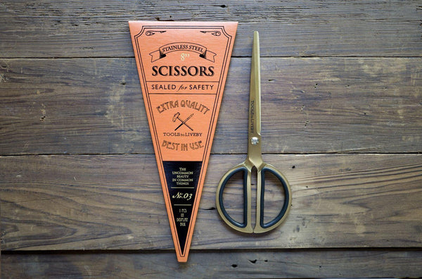"Tools to Liveby Gold Scissors 8""-Galen Leather"