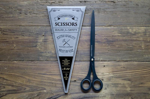 "Tools to Liveby Long Black Scissors 9""-Galen Leather"
