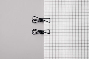 Tools to Liveby Wire Clips (Black Paper Clips)-Galen Leather