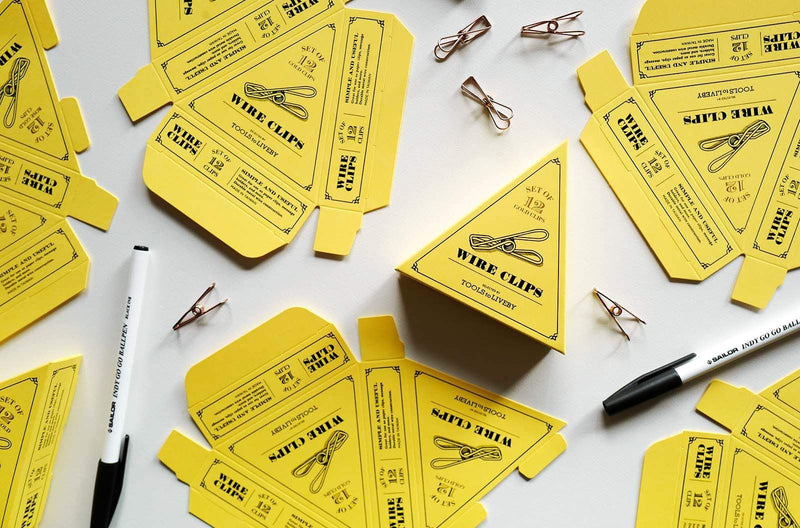 Tools to Liveby Wire Clips (Gold Paper Clips)-Galen Leather