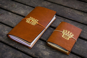 Traveler's Notebook Leather Cover-Brown-Galen Leather